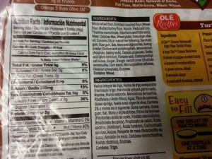 OLE Xtreme Wellness High Fiber Low Carb tortillas - these are the best ones I have found - always soft!