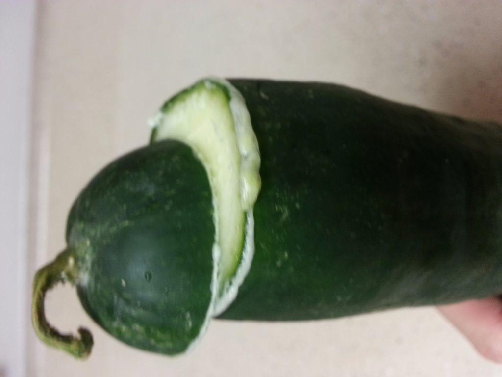 Cucumber with foam