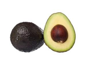 Fresh avocado cut open